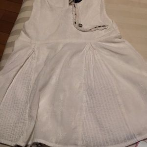 Burberry kids white dress for 12m